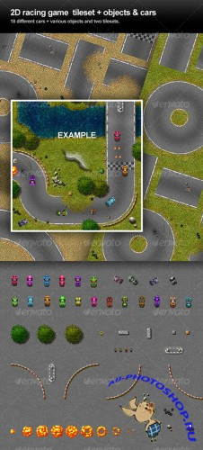 GraphicRiver - 2D Racing game tileset