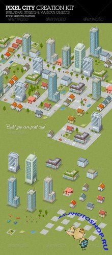 GraphicRiver - Pixel City Creation Kit