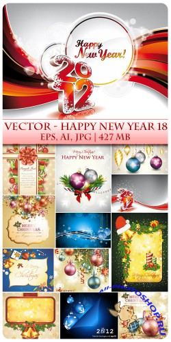 Vector Happy New Year 18