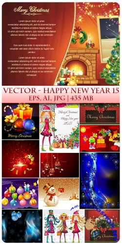 Vector Happy New Year 15