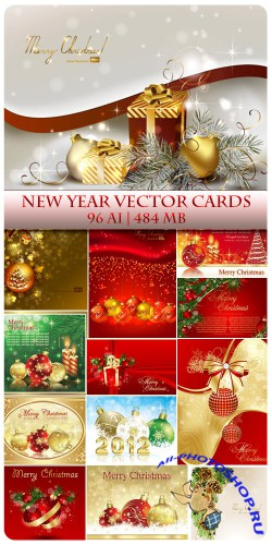 New Year Vector Cards