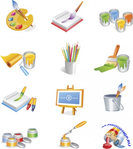 Paint Icons Vector