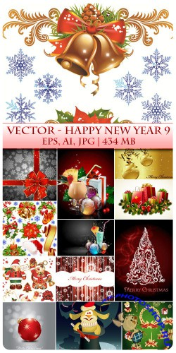 Vector Happy New Year 9