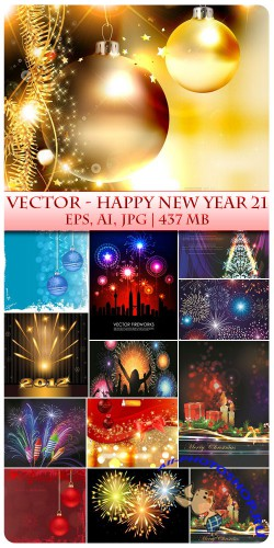 Vector Happy New Year 21