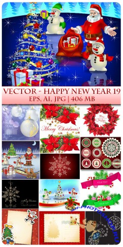 Vector Happy New Year 19