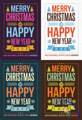 Creative Winter Holidays Postcard PSD Template