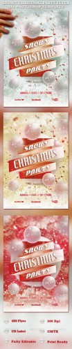 GraphicRiver - Snowy Christmas Party Flyer Template