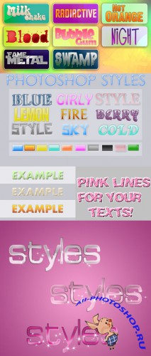 Text Layer styles for Photoshop pack 5