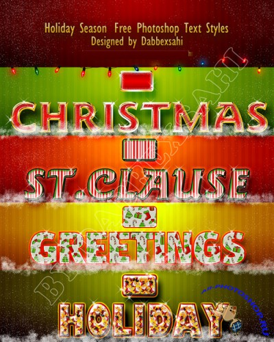 christmas ps text style by dabbexsahi