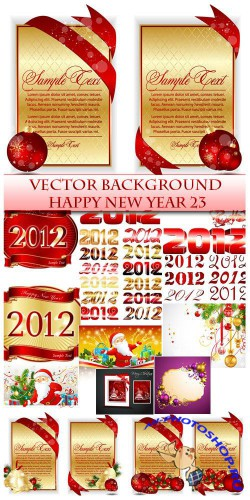 Vector Happy New Year 23
