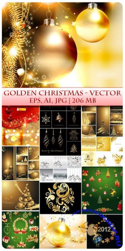 Golden Christmas - Vector