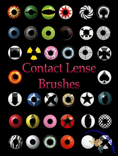 Contact Lense Brushes set for Photoshop