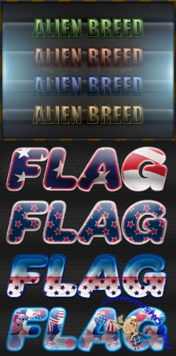 AMERICAN FLAG TEXT STYLES FOR PHOTOSHOP