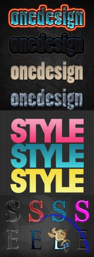 Cool Text layer styles for Photoshop pack 8