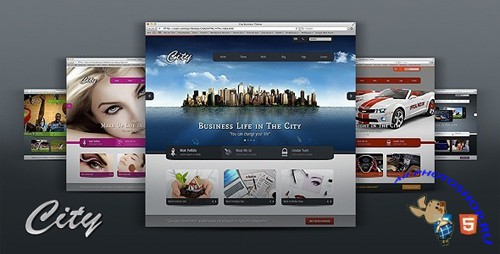 ThemeForest - City Business Corporate - 6 in 1 (HTML5 & CSS3) - Rip