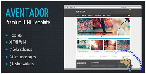 ThemeForest - Aventador - Premium HTML Template - Rip 7 Colors
