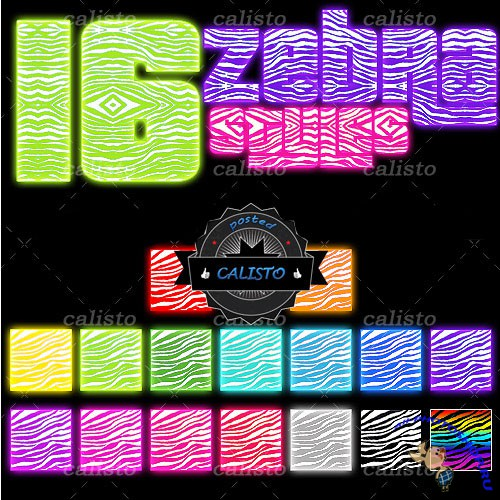 16 Zebra Styles for Photoshop (REUPLOAD)
