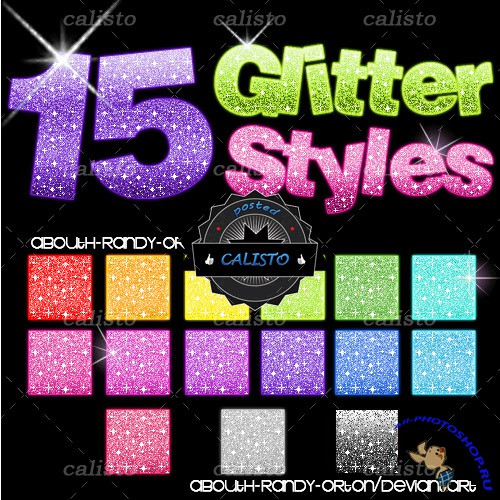 15 Glitter Styles for Photoshop (REUPLOAD)