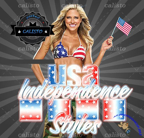 4 USA Independence Styles for Photoshop (REUPLOAD)
