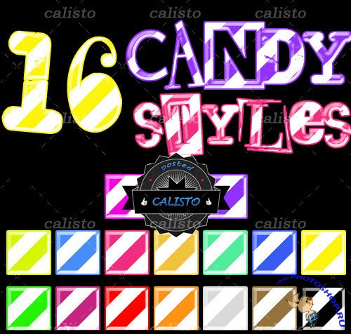 16 Candy Styles for Photoshop (REUPLOAD)