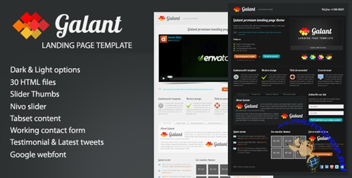 ThemeForest - Galant powerful landing page - RETAIL