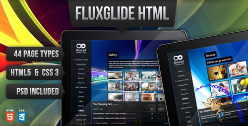 ThemeForest - Fluxglide Complete HTML5 Website Template - Rip