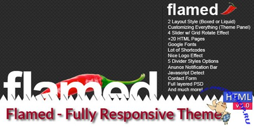 ThemeForest - Flamed - Rip