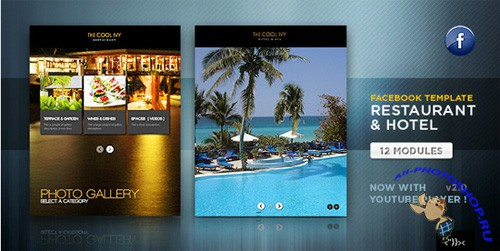 ActiveDen - Facebook Restaurant & Hotel Template