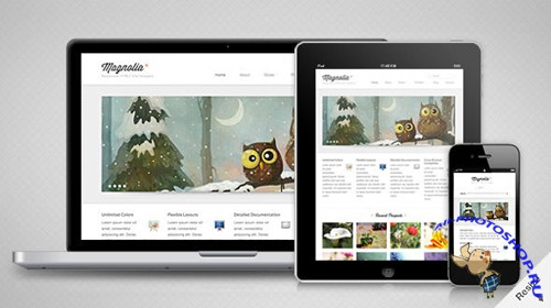 MojoThemes - Magnolia – A Responsive HTML5 Template - Rip