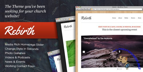 ThemeForest - Rebirth - The WordPress Theme for Churches