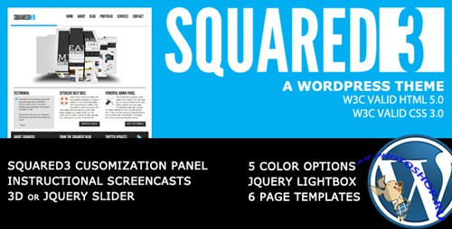 ThemeForest - SQUARED3 v3.1.1 - WordPress Theme