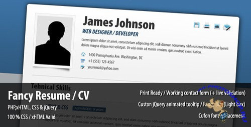 ThemeForest - Fancy Resume / CV