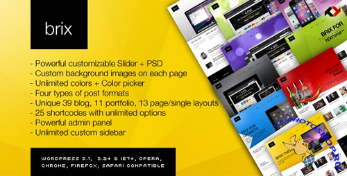 ThemeForest - Brix - Premium Theme for Blog/Portfolio/Creative v1.4