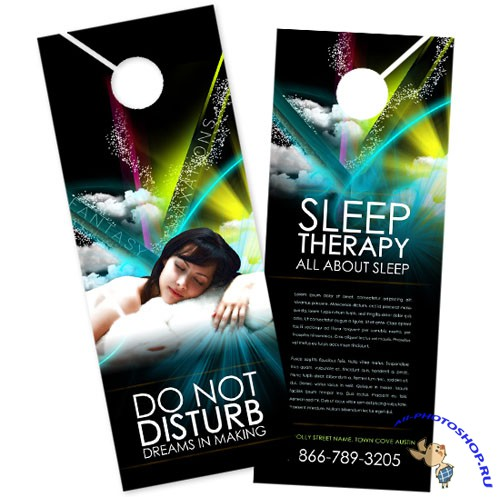 BoxedArt - Sleep Therapy A 4.25 x 11 - Templates for Design