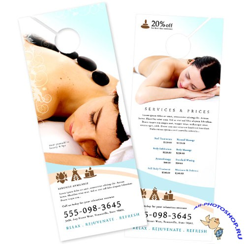 BoxedArt - Rejuvenating Day Spa A 4.25 x 11 - Templates for Design
