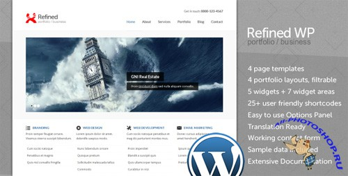 ThemeForest - Refined WP - Portfolio / Business Theme v1.0.1 for Wordpress 3.x