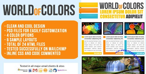 ThemeForest - World of Colors Email Template - Newsletter - Rip