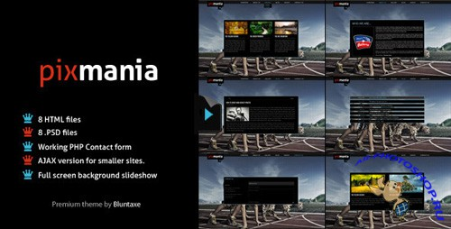 ThemeForest - Pixmania - Portfolio for the creative - Rip