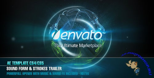 Videohive - AE CS4 - Sound Form & Strokes Trailer 125445 - Project for After Effects
