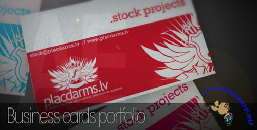 Videohive - Business cards mock-up 63932 - Project for After Effects