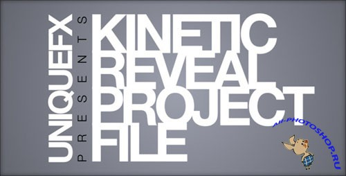Videohive - Kinetic Reveal 137834 - Project for After Effects