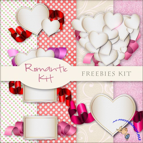Scrap-set - Romantic Kit