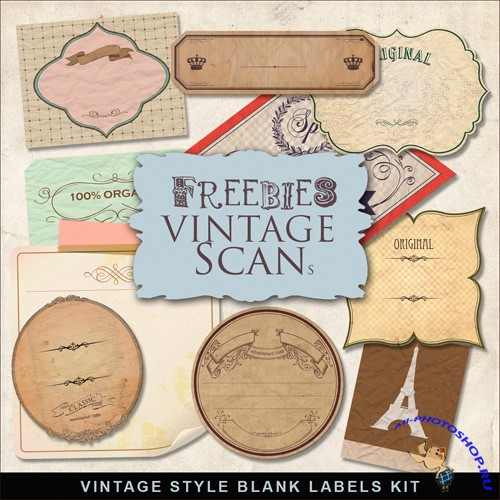 Scrap-kit - Vintage Style Blank Labels