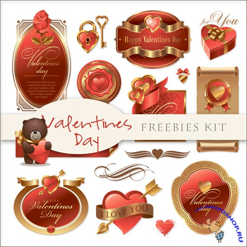 Scrap-kit - Valentines Day Labels