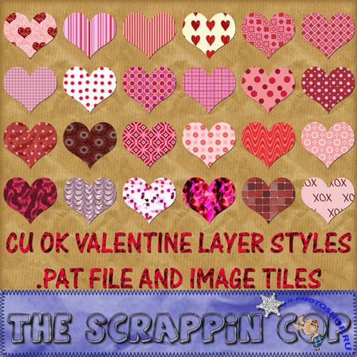 Valentine Layer Styles and Patterns for Photoshop