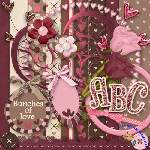 Scrap-set - Bunches of Love Day