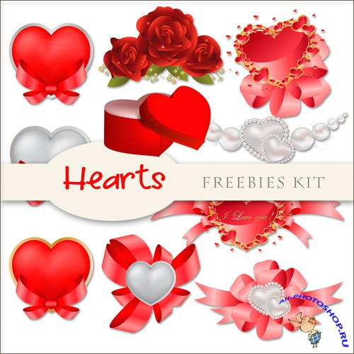 Scrap-kit - Hearts Cliparts #2