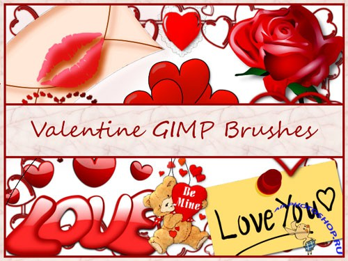 Valentine GIMP Brushes for Photoshop