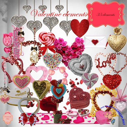 Scrap-kit - Hearts Cliparts #3