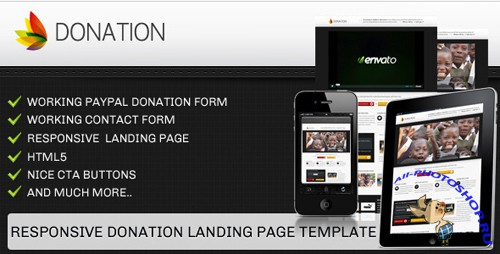 ThemeForest - Donation landing page template - responsive - Rip